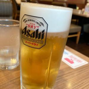 ガストで涼をとります、ハッピーアワー200円ビール