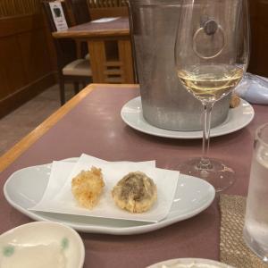 つな八@新宿京王デパートで、ワイン持ち込みランチ!