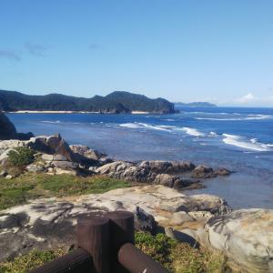 沖縄本島釣行日記(渡嘉敷島:島一周サイクリング&釣り)