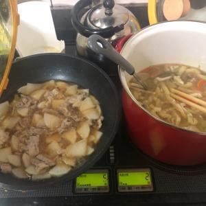 台風で早くお店をしめたので、今日はパパの夕食。