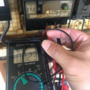 緊急出動、電気が来ない。停電ではなく断線。