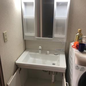 石川県小松市の須天様(仮名)洗面化粧台のシャワーホースから水漏れで取替 プチリフォーム