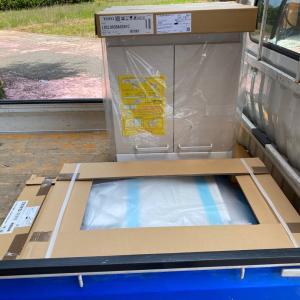 石川県加賀市で60cmの洗面化粧台の取替え
