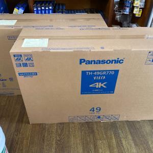 パナソニック(Panasonic)のオールインワンテレビをTH-49GR770を2台納品