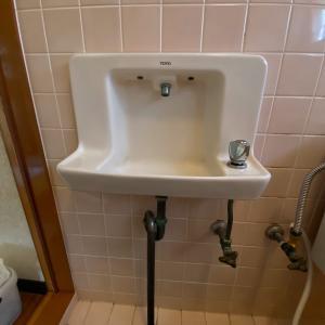 石川県小松市 トイレの手洗い栓修理 水漏れを治させてもらいました。