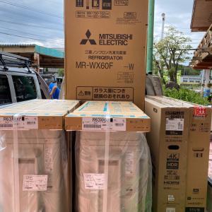 石川県加賀市 中古物件をフルリノベーションされたお得意様宅に家電とエアコンの工事を
