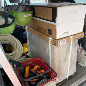 石川県加賀市小松市にて エアコン3台の取替など。埋設工事