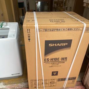 昨日はシャープのドラム洗濯機の取替