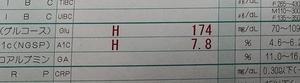 1月の空腹時血糖値とHbA1c(*´∇`*)