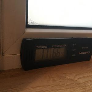12月なのに-6℃!トリプルガラス窓の結露対策の結果