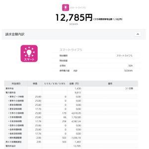 1月の東京電力とHTB「ぜんぶでんき東京」の電気代比較