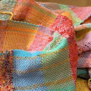 織りスタッフさんさをり織り作品