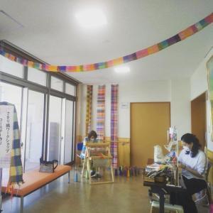 川岡コミセン夏休みさをり織りワークショップ