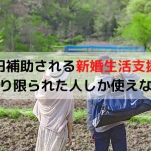 新婚生活に60万円補助される新婚生活支援事業はかなり限られた人しか使えない件
