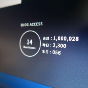 おかげさまで100万PVを超えました!!