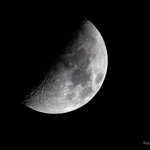 久々に月と月面撮影