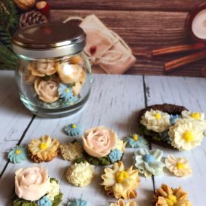 自分で絞ったお花がクッキーになるなんて夢のようです!!