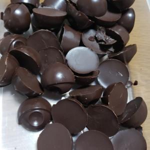 スクラロースで低糖質チョコ作り(完成)
