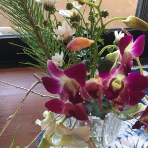 お正月の花が1ヶ月も持ったぁ〜♪   花のある生活は癒されるよね〜
