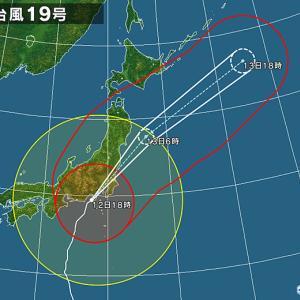 今、台風の中心で無風