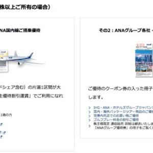 【ANAも好きだから】ANAの株主に返り咲き!目的は優待券なので無配でもいいのだ