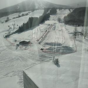 スキー授業in安比