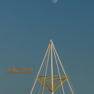 『北アルプス・立山連峰』が久しぶりに綺麗に見えた日!当然、夕日も月も「下位蜃気楼も」!