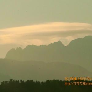 """剱岳の上の""""傘雲""""から始まる、秋には雲の魅力がたくさん!ゆっくり観察してみようっと!"""