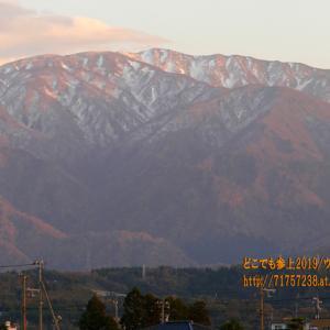 立山の雪が降りて来た!標高1200m以上は雪景色!!更には夕景で赤く染まる!