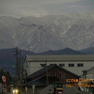 """12月6日、魚津に""""初雪""""、昨シーズンの雪の無い時より2日早く、平年より4日遅い"""