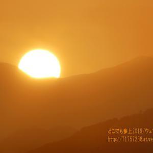 春霞か!?昇る朝日が撮れた!というほど霞む空では太陽が直視出来た・・・。