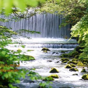 黒部市「布瀬川」の渓流を眺める。深い味わいのある川の流れ・・・。