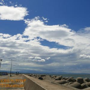 台風9号が遠ざかり、富山に普段見れない風景を残していった!