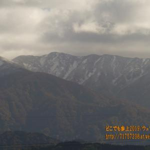 週末に寒波が襲来!魚津の山にも初冠雪!!着実に冬に向かう・・・。