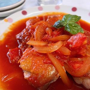 チキンの甘辛トマトダレ