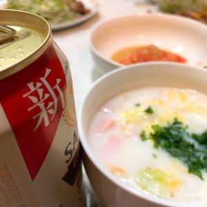 白菜とハムのクリームスープ