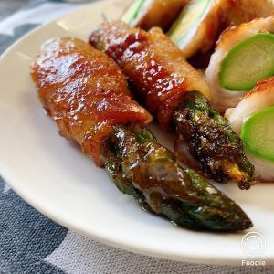 豚バラ肉アスパラ巻き甘辛ソース