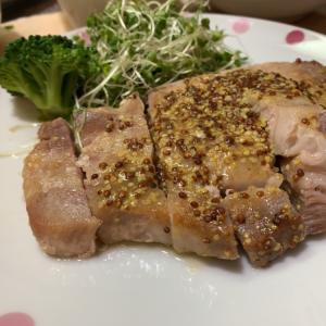 豚ロースソテーの粒マスタードソース