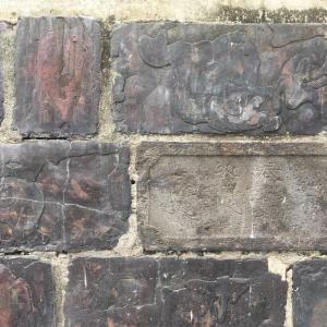海徳寺の鍰煉瓦の塀  品川区南品川