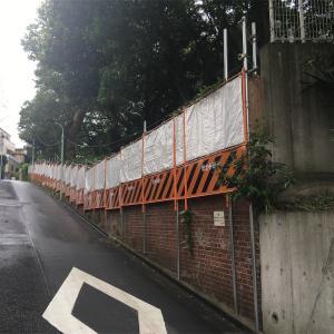 東京大学医科学研究所裏の擁壁  港区白金台