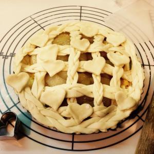 桃のカスタードパイ