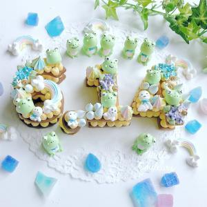 梅雨のメレンゲナンバーケーキ