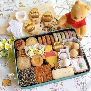 クラシックプーさんクッキー缶とプロのパティシェクッキー缶