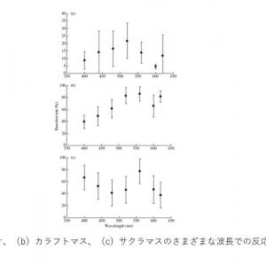 魚類の行動研究論文集の抄録 Comparison of the spectral sensitivity of three species of juvenile salmonids