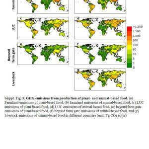 Nature トピックス; 動物性食品からの世界の温室効果ガス排出量は、植物性食品の2倍