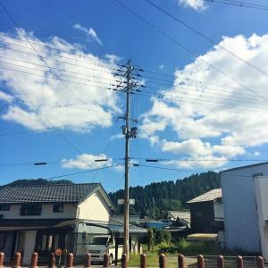 9月28日 台風前の秋晴れ
