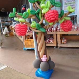 これは何?バルーンアートのリンゴです
