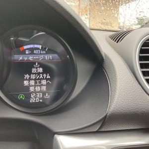 【ポルシェ】718ケイマンにトラブル。冷却水温ゲージ故障と表示され、水温上昇