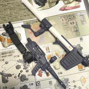 MG ガンダム Ver.ONE YEAR WAR 0079製作3/フレーム、武器の完成