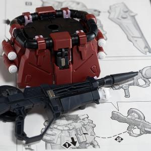 MG ガナーザクウォーリア(ルナマリア・ホーク専用機)製作3/ビーム突撃銃をネオジム磁石で腰部背面に取り付け